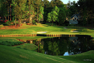 Sports Royalty-Free and Rights-Managed Images - Golf The Landing #3 Reynolds Plantation Lake Oconee GA Art by Reid Callaway