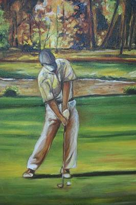 Art Print featuring the painting Golf Tips by Emery Franklin