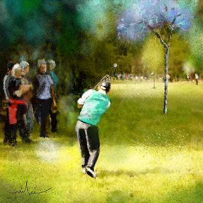 Sports Paintings - Golf Vivendi Trophy in France 02 by Miki De Goodaboom