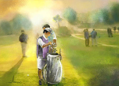 Sports Paintings - Golf Vivendi Trophy in France 03 by Miki De Goodaboom