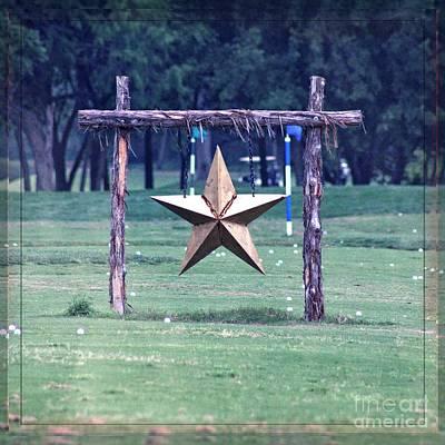 Golf With Texas Star Art Print by Ella Kaye Dickey