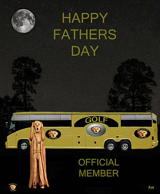 Golf  World Tour Scream Happy Fathers Day Art Print