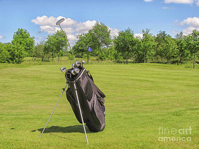 Photograph - Golfbag Near Green by Patricia Hofmeester
