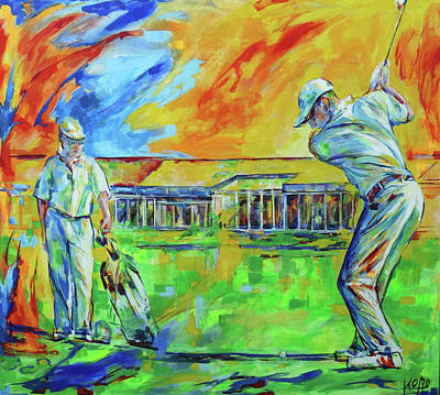 Painting - Golfclub Mettmann by Koro Arandia