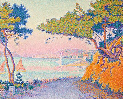 Golfe Juan Art Print by Paul Signac