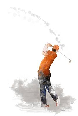Digital Art - Golfer 1 by Marlene Watson