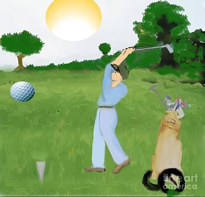 Painting - Golfer by Belinda Threeths