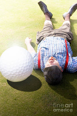 Golfer Didnt See That One Coming Art Print by Jorgo Photography - Wall Art Gallery