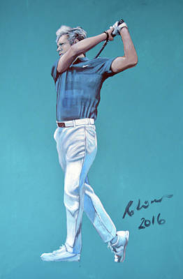Niall Painting - Golfer Direction One by Mark Robinson