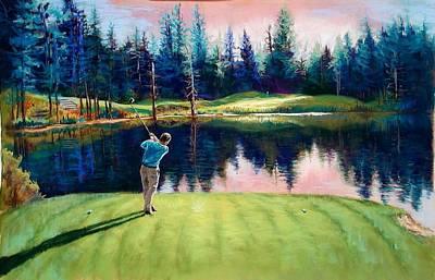 Lynee Sapere Wall Art - Photograph - Golfer by Lynee Sapere