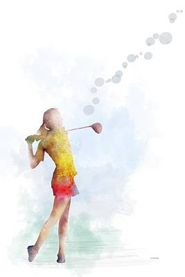 Digital Art - Golfer by Marlene Watson