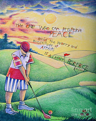 Painting - Golfer - The One Who Can - Mmglf2 by Br Mickey McGrath OSFS