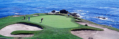 Golfer Photograph - Golfers Pebble Beach, California, Usa by Panoramic Images