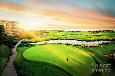 Photograph - Golfing At The Gong Arcanum Edition by Ray Warren