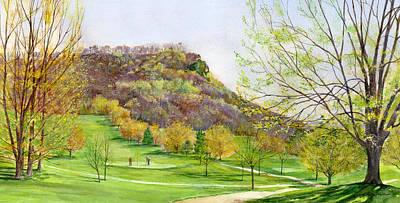 Painting - Golfing Beside Grandad Bluff by Phyllis Martino