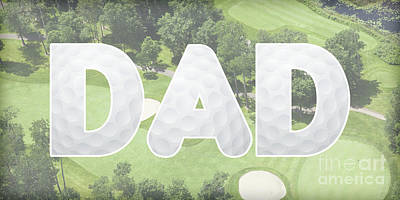 Digital Art - Golfing Dad by Pamela Williams
