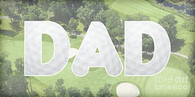 Digital Art - Golfing Dad by Pamela Williams