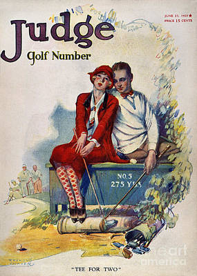 Photograph - Golfing: Magazine Cover by Granger