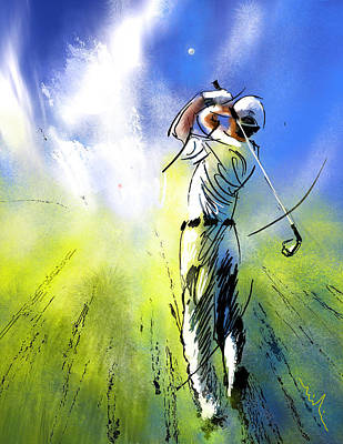 Art Miki Painting - Golfscape 01 by Miki De Goodaboom