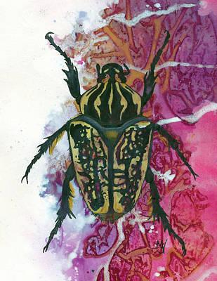 Painting - Goliath Beetle by Marie Stone Van Vuuren