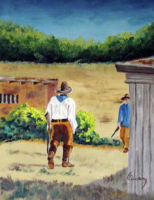 Painting - Golondrinas Rancho Riflemen by Carl Owen