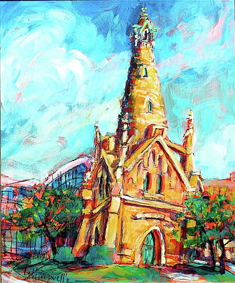 Painting - Gombert's Tower by Les Leffingwell
