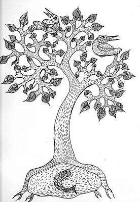 Gond Art Painting - Gond Art  by Namita Jha
