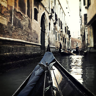 Channel Photograph - gondola - Venice by Joana Kruse