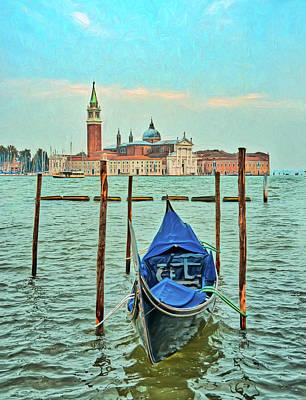 Photograph - Venice Gondola Across The Canal by Gary Slawsky