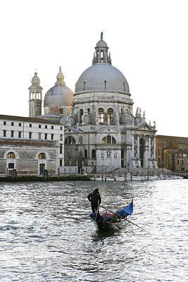 Photograph - Gondola Alla Salute by Marco Missiaja