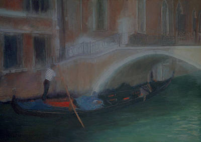 Painting - Gondola And Bridge by Masami Iida