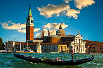 Photograph - Gondola And San Giorgio Maggiore by Harry Spitz