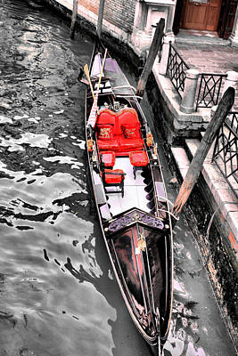 Photograph - Gondola For Hire by Greg Sharpe