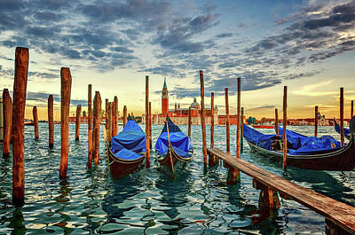 Photograph - Gondola Marina by Maria Coulson