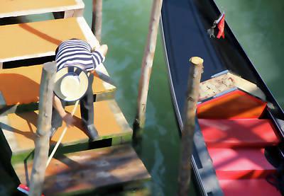 Photograph - Gondola Morning Chores by Vicki Hone Smith