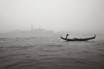 Photograph - Gondola Nella Nebbia 193042x by Marco Missiaja