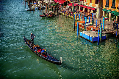 Photograph - Gondola On The Grand Canal Near The Rialto Bridge_dsc4428_03022017 by Greg Kluempers
