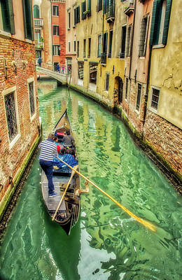 Photograph - Gondola On Venice Canal by Gary Slawsky
