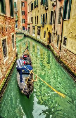 Photograph - Gondola On Venice Canal by Gary Slawsky