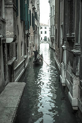 Photograph - Gondola On Venice Canal by Jean Gill