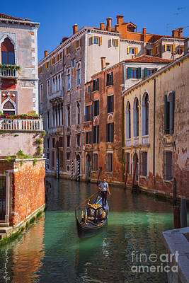Photograph - Gondola Pathways - Venice Italy by Jeffrey Worthington