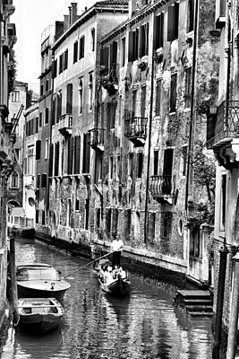 Photograph - Gondola Ride In Venice by Greg Sharpe