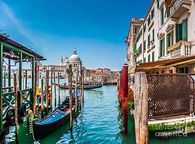 Photograph - Gondola Ride In Venice by JR Photography