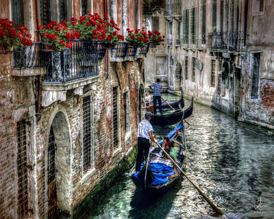 Photograph - Gondola Ride by Pennie  McCracken