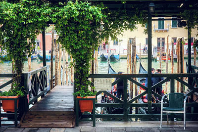 Photograph - Gondola Station In Venice by Eduardo Jose Accorinti