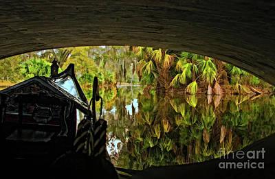 Photograph - Gondola Under A Bridge by Kathleen K Parker