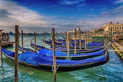 Photograph - Gondolas At Piazza San Marco Venice_dsc1266_02282017 by Greg Kluempers