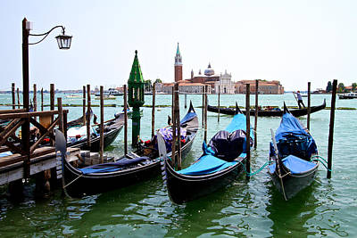 Photograph - Gondolas by David Beebe