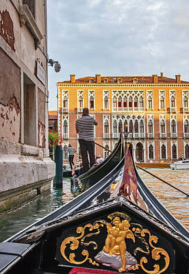 Photograph - Gondolas Entering The Grand Canal by Carolyn Derstine
