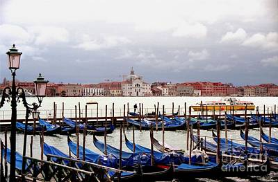 Gondolas In Venice Art Print by Michael Henderson